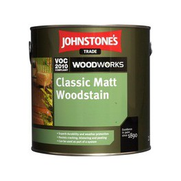 Johnstones Satin Woodstain Matt - Teak - 0,75 L