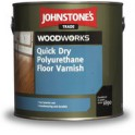 Johnstones Quick Dry Polyurethane Floor Varnish Satin - polomat 2,5 L