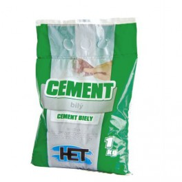 HET Cement bílý 1 KG