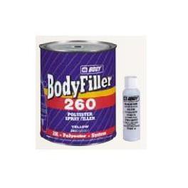 Bodyfiller 260 - Dvousložkový polyesterový stříkací tmel