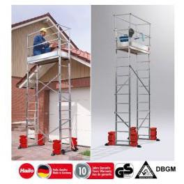 Hailo ProfiStep multi - Hliníkové žebříkové lešení 9476 + 9477 + 8ks 9478 betonového závaží á 12,5kg